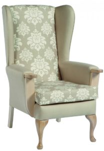 Emily Queen Anne High Back Chair EMIL001 Image